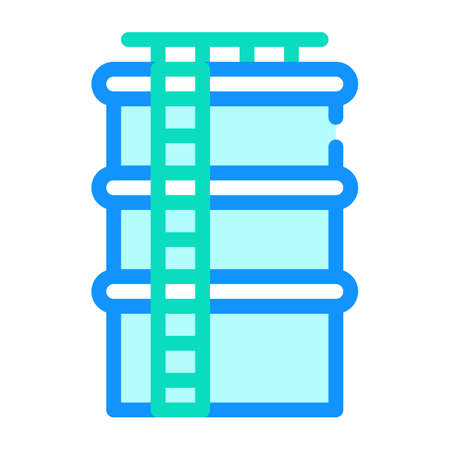 water tank color icon vector flat illustration