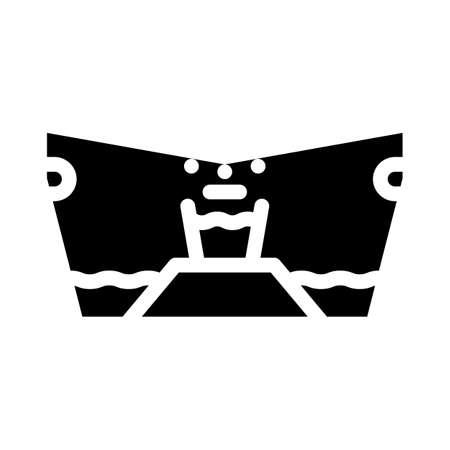 filtering equipment glyph icon vector black illustration Stock Illustratie