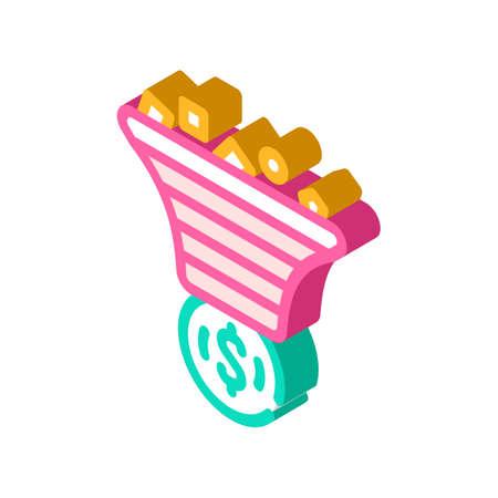advertising traffic filtration money isometric icon vector illustration