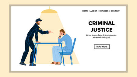 Criminal Justice In Police Office Room Vector