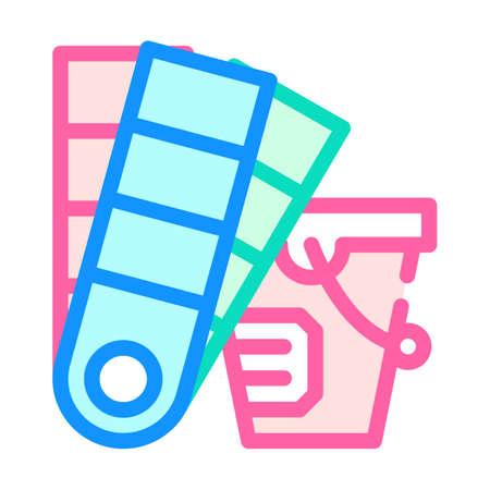paint palette color icon vector flat illustration