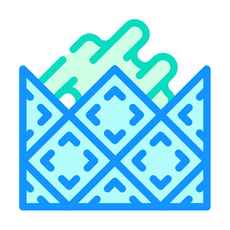 lay tiles color icon vector flat illustration
