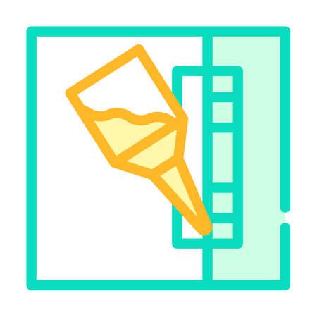 glueing details color icon vector flat illustration