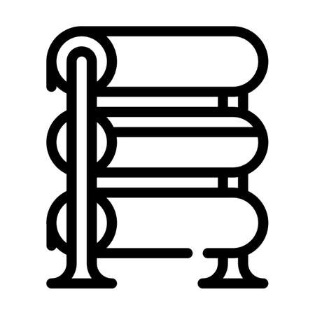 rack with fabrics line icon vector illustration Vettoriali
