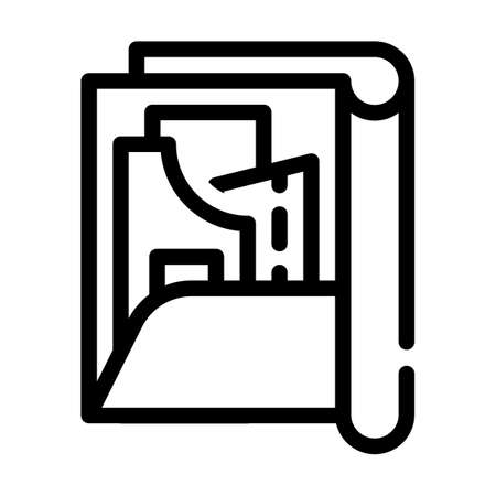 pattern set folder line icon vector illustration