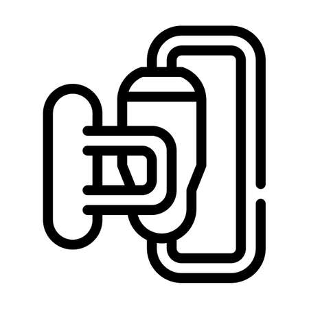 power unit line icon vector black illustration 矢量图像