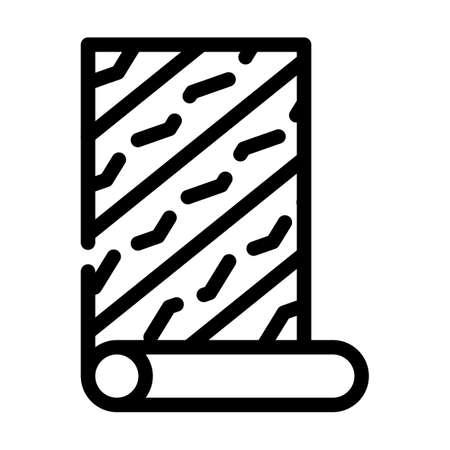 wallpaper glue line icon vector black illustration