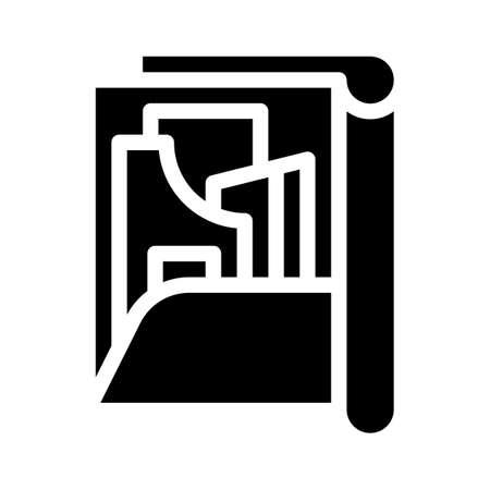 pattern set folder glyph icon vector illustration