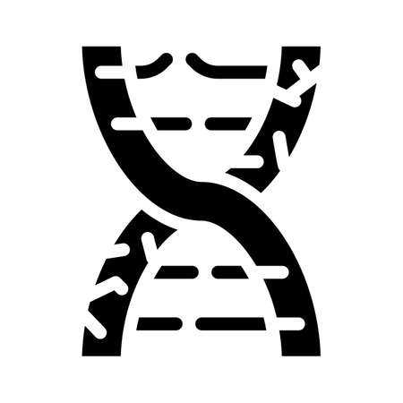 dna decay glyph icon vector black illustration 矢量图像
