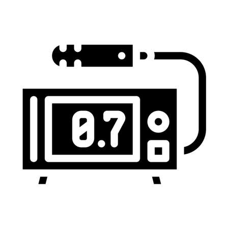 geiger counter glyph icon vector black illustration