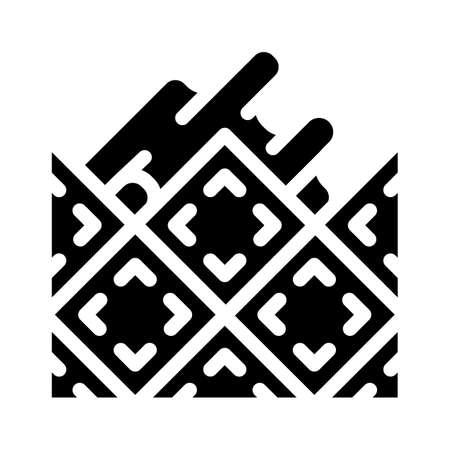 lay tiles glyph icon vector black illustration