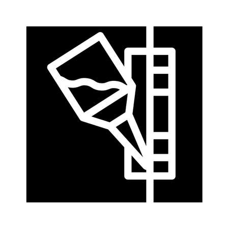 glueing details glyph icon vector black illustration