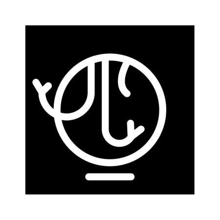 repair electricity wires glyph icon vector illustration Ilustração