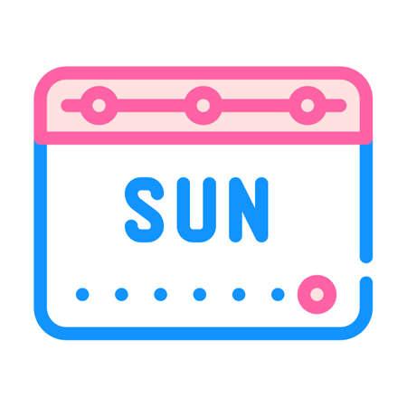 voting date calendar color icon vector illustration