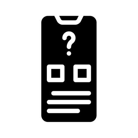 electronic voting glyph icon vector illustration sign
