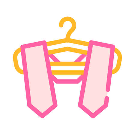graduation stole color icon vector illustration sign