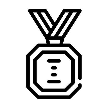 golden medal line icon vector illustration sign