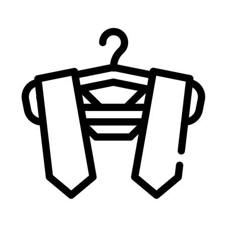 graduation stole line icon vector illustration sign