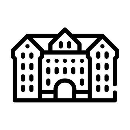 university building line icon vector illustration sign