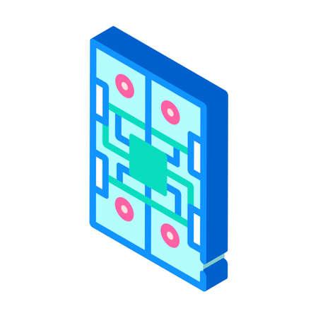 universal platform for robotics isometric icon vector illustration