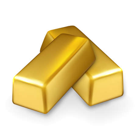 Gold Bar Stack Finance Investment Treasure Vector