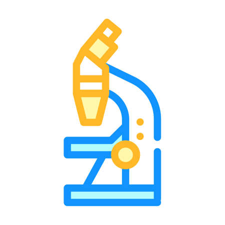 microscope tool color icon vector illustration sign