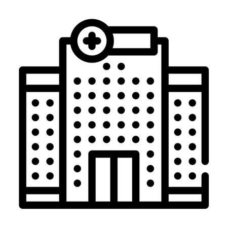 hospital building line icon vector illustration sign