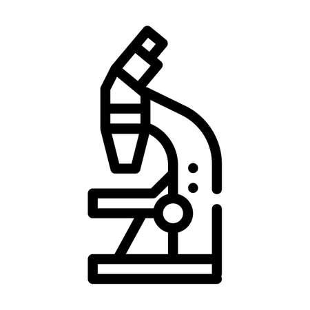 microscope tool line icon vector illustration sign