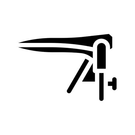 gynecological speculum glyph icon vector illustration sign