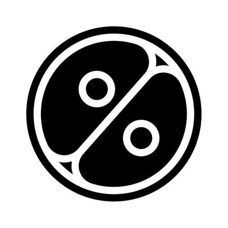 cell division glyph icon vector illustration sign Illusztráció