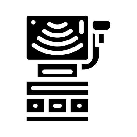 ultrasound equipment glyph icon vector illustration sign Illusztráció