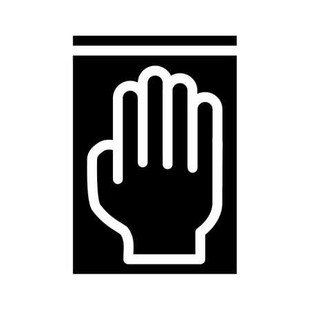 medical gloves glyph icon vector illustration sign Illusztráció