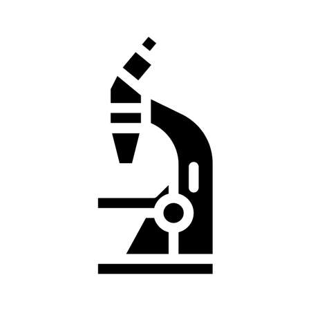 microscope tool glyph icon vector illustration sign