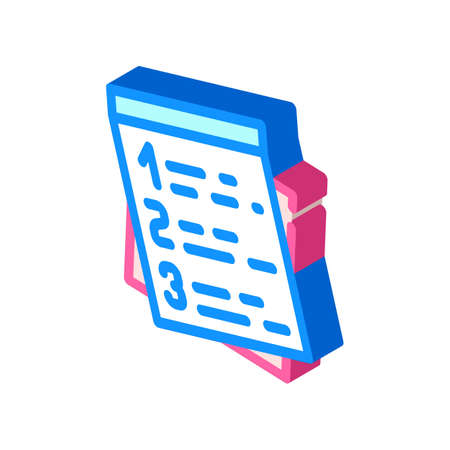 plan for day isometric icon vector illustration