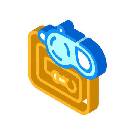 pet leash isometric icon vector illustration sign 向量圖像