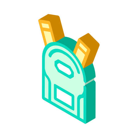 school backpack isometric icon vector illustration sign