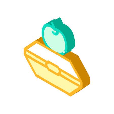 food in box isometric icon vector illustration 向量圖像