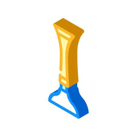 stethoscope tool isometric icon vector illustration sign