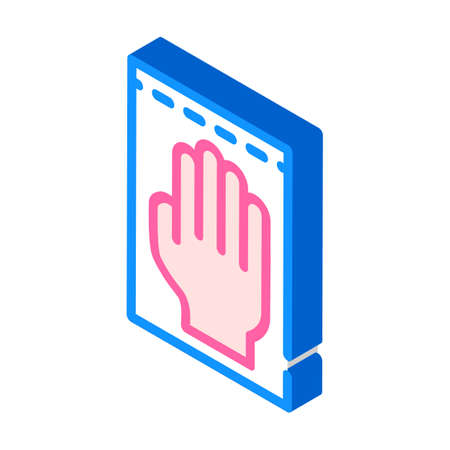 medical gloves isometric icon vector illustration sign