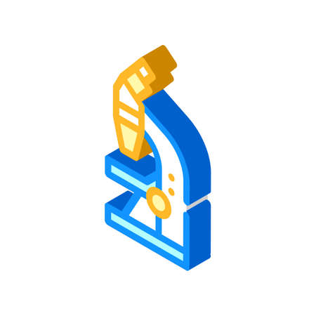 microscope tool isometric icon vector illustration sign