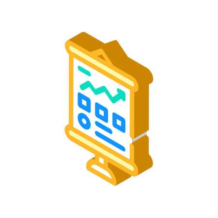 business presentation isometric icon vector illustration sign