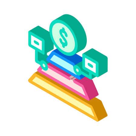 maslow pyramid isometric icon vector illustration sign 向量圖像