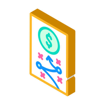 business strategy isometric icon vector illustration sign 向量圖像