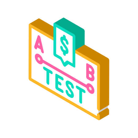 a-b test isometric icon vector illustration sign