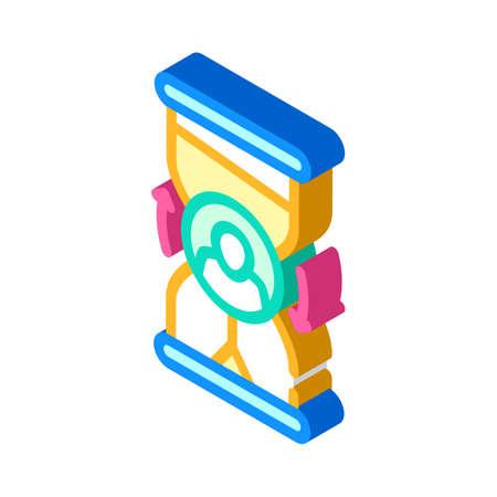 ovretime work isometric icon vector illustration sign
