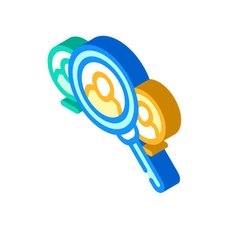 employee search isometric icon vector illustration sign 向量圖像