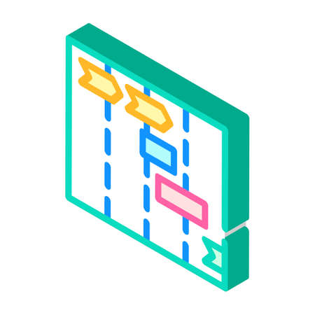 project timelines isometric icon vector illustration sign