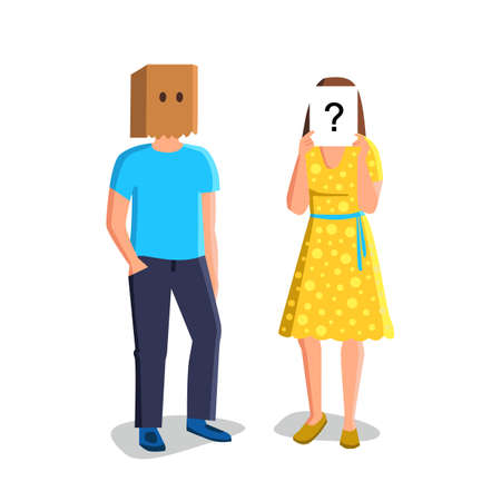 Anonymity Unknown People With Hidden Faces Vector