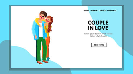 Couple In Love Young Family Relationship Vector
