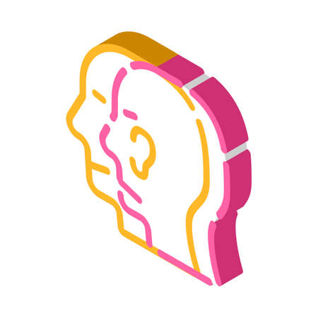 split personality glyph icon vector illustration color Vektorové ilustrace